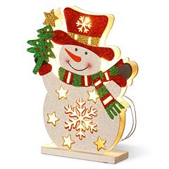 National Tree Company Pre-Lit Glitter Snowman Table Decor
