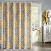 Intelligent Design Lilly Microfiber Shower Curtain
