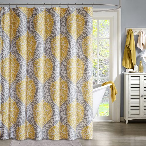 Intelligent Design Lilly Microfiber Shower Curtain