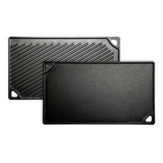Lodge Logic Pre-Seasoned Double Play Reversible Grill & Griddle
