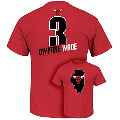 Men's Majestic Chicago Bulls Dwyane Wade Record Holder Tee