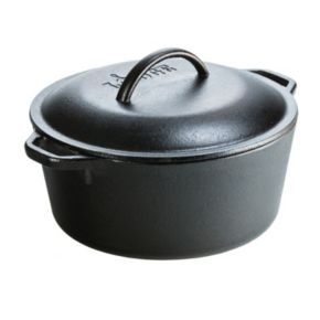 Lodge Logic Pre-Seasoned 5-qt. Dutch Oven with Iron Cover