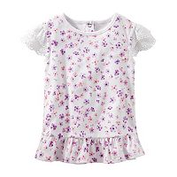 Toddler Girl OshKosh B'gosh® Eyelet Sleeve Floral Top