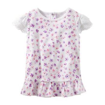 Toddler Girl OshKosh B'gosh® Eyelet Sleeve Floral Top