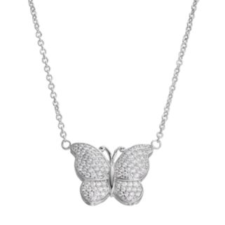 Fleur Cubic Zirconia Butterfly Necklace