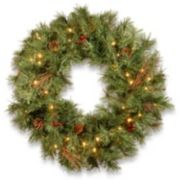 National Tree Company 24-in. Pre-Lit Artificial Pine Christmas Wreath