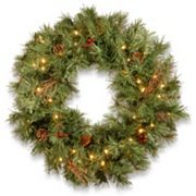 National Tree Company 24 in Pre-Lit Artificial Pine Christmas Wreath