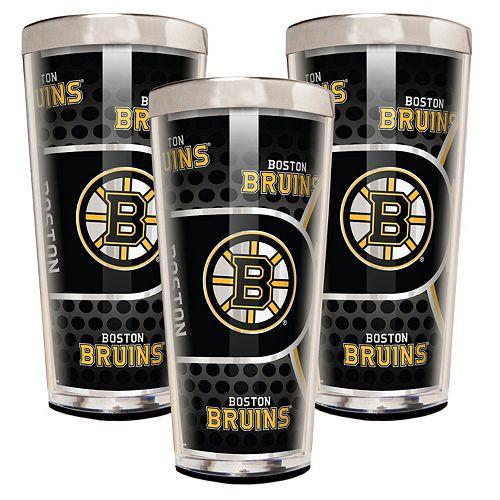 Boston Bruins 3-Piece Shot Glass Set