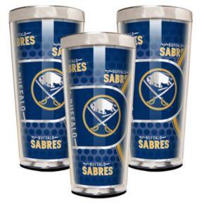 Buffalo Sabres 3-Piece Shot Glass Set