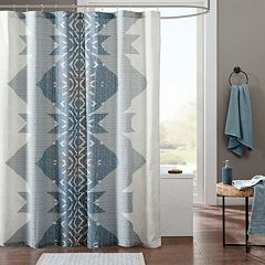 INK+IVY Nova Cotton Printed Shower Curtain