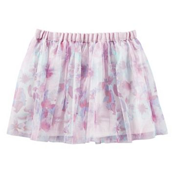 Toddler Girl OshKosh B'gosh® Floral Printed Mesh Skirt