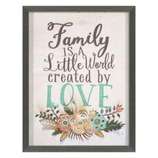 """""""Family World Love"""" Framed Wall Art"""