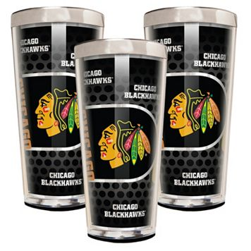 Chicago Blackhawks 3-Piece Shot Glass Set