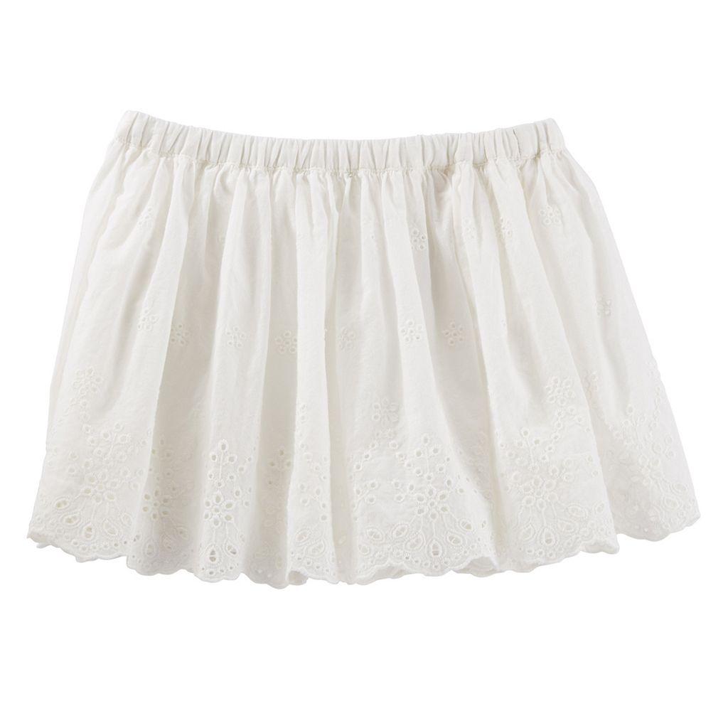 Toddler Girl OshKosh B'gosh® White Eyelet Skirt