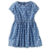 Toddler Girl OshKosh B'gosh® Chambray Heart Print Dress