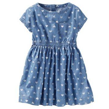 Toddler Girl OshKosh B'gosh® Chambray Heart Print Dress