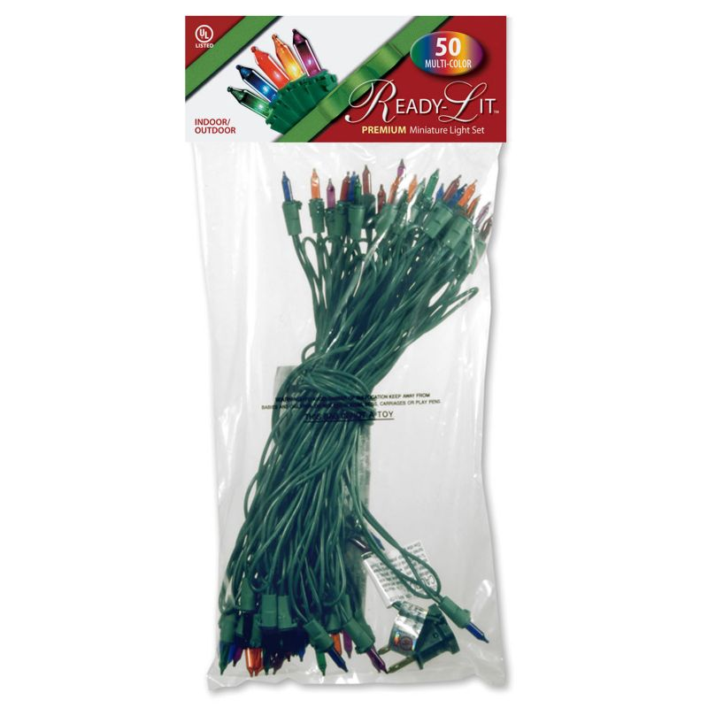 National Tree Company 50 Light Multicolored Christmas Lights, Multicolor