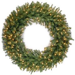 National Tree Company 48-in. Pre-Lit Artificial Norwood Fir Christmas Wreath