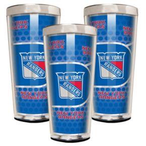 New York Rangers 3-Piece Shot Glass Set