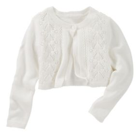 Toddler Girl OshKosh B'gosh® White Cropped Pointelle Cardigan