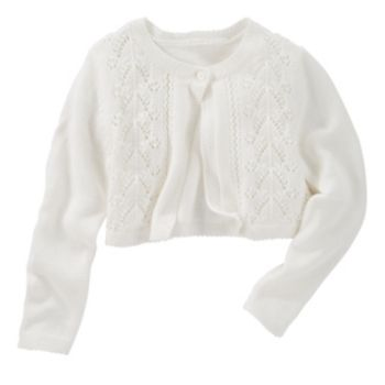 Toddler Girl OshKosh B'gosh® White Cropped Pointelle Cardigan
