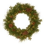 National Tree Company 24-in. Pre-Lit Artificial Eastwood Spruce Christmas Wreath