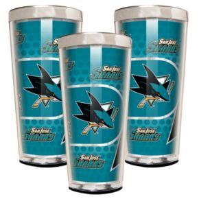 San Jose Sharks 3-Piece Shot Glass Set