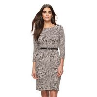 Women's Sharagano Belted Jacquard Sheath Dress