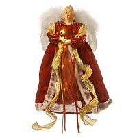 National Tree Company 16-in. Pre-Lit Burgundy Angel Christmas Tree Topper