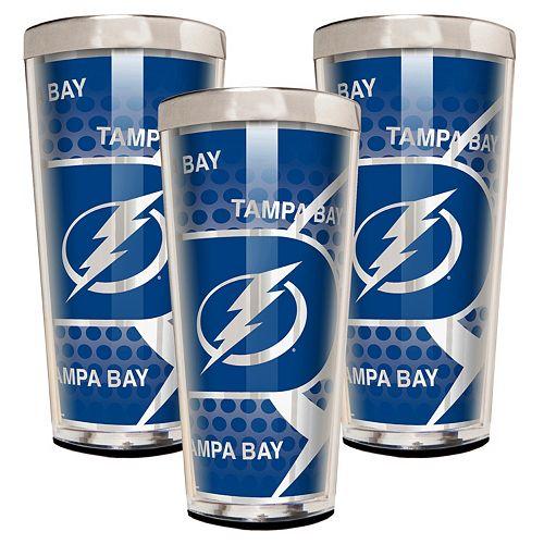Tampa Bay Lightning 3-Piece Shot Glass Set