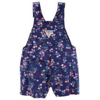 Toddler Girl OshKosh B'gosh® Floral Twill Shortalls