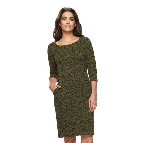 Women's Sharagano Jacquard Sheath Dress