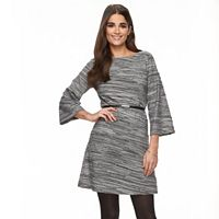 Women's Sharagano Space-Dye Pintuck Sheath Dress