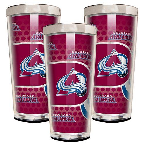 Colorado Avalanche 3-Piece Shot Glass Set