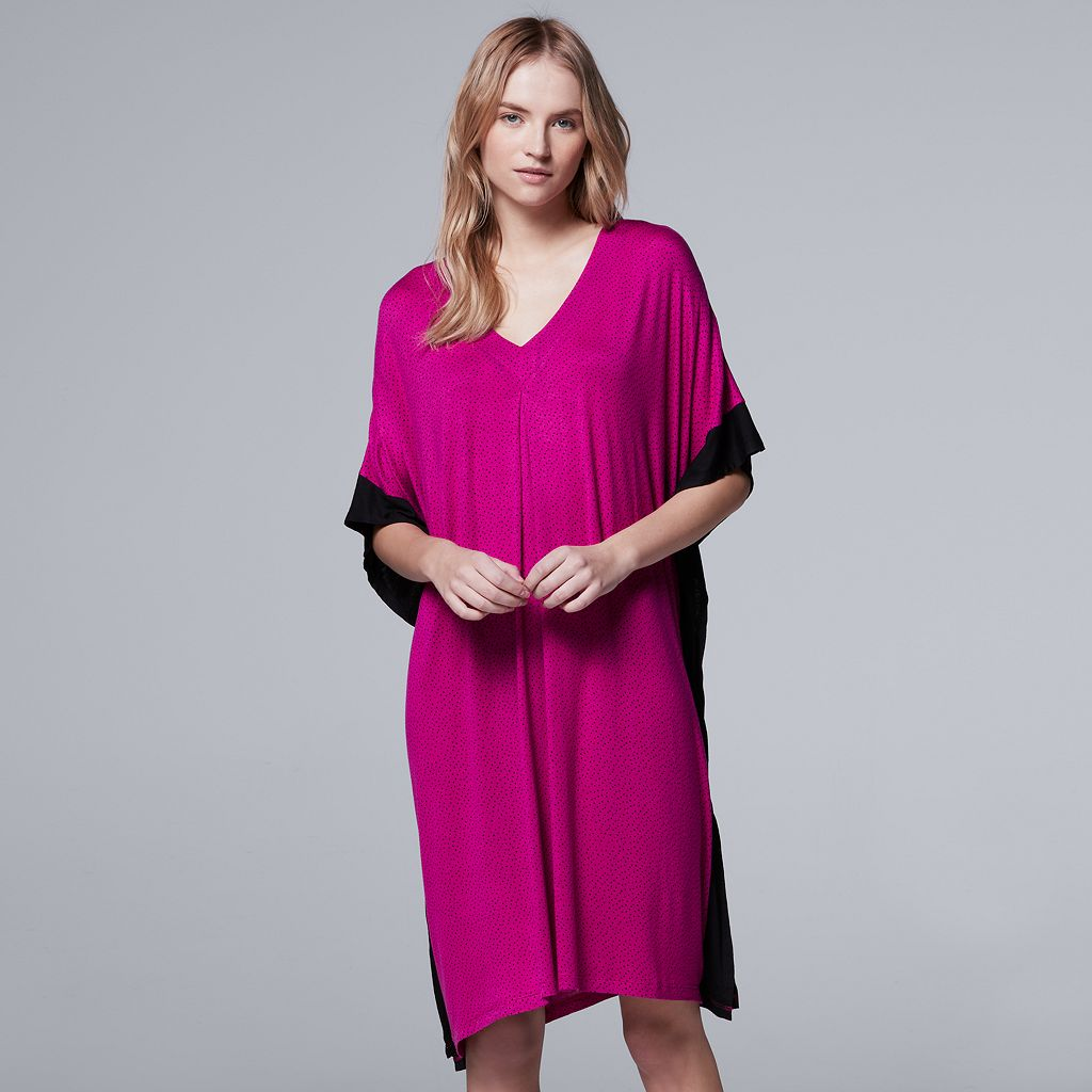 Women's Simply Vera Vera Wang Whisper Garden Caftan Dress