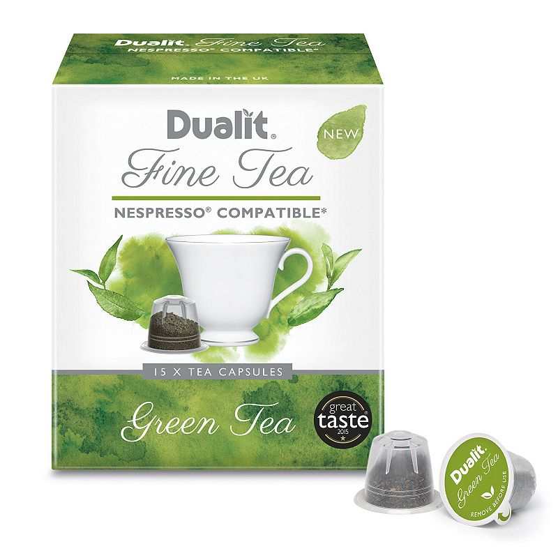 Awaken your senses with the smooth flavors and remarkable freshness of this Dualit Green Tea. Naturally pure and delicious flavors 90-pack Compatible with the Dualit 3-in-1 Espresso Coffee Machine & Nespresso Model no. 15882 Size: One Size. Color: Multicolor. Gender: unisex. Age Group: adult.