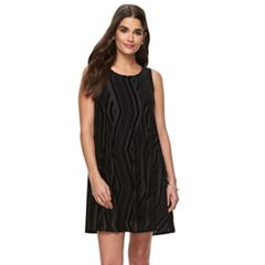 Women's Hope & Harlow Velvet Burnout A-Line Dress