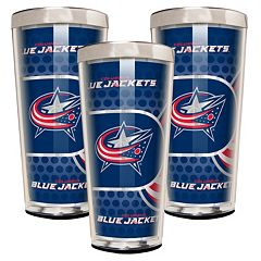 Columbus Blue Jackets 3-Piece Shot Glass Set