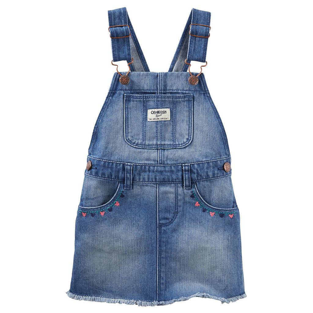 Toddler Girl OshKosh B'gosh® Frayed Denim Jumper