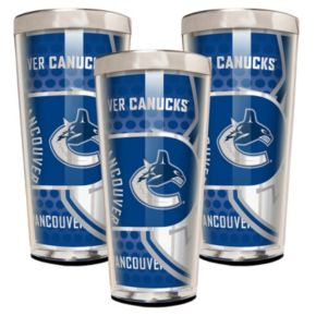 Vancouver Canucks 3-Piece Shot Glass Set