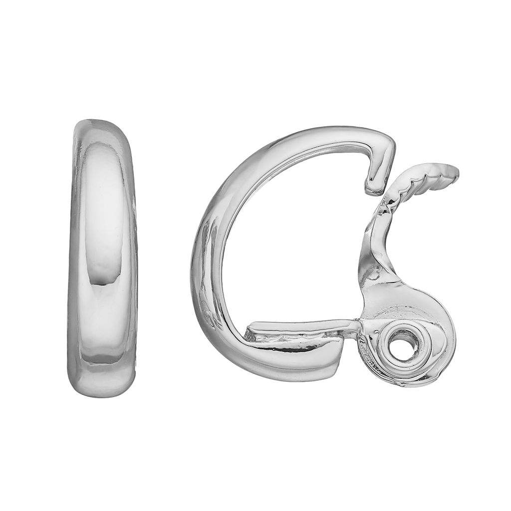 Napier Clip On Hoop Earrings