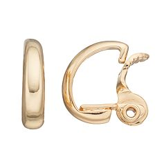 Napier Clip On Hoop Earrings