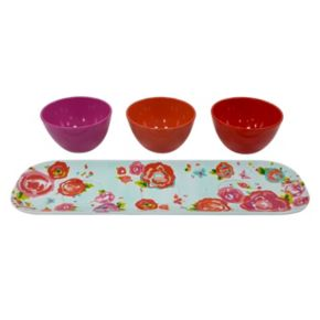 Celebrate Summer Together 4-pc. Melamine Serving Bowl & Tray Set