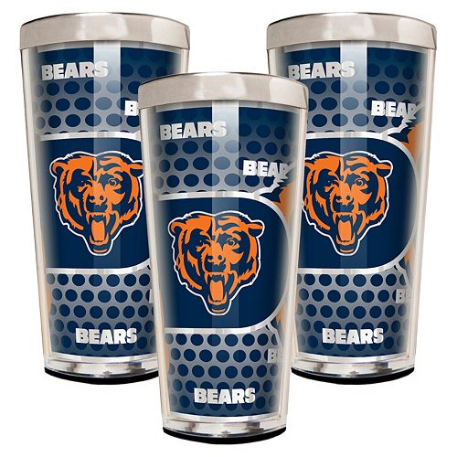 Chicago Bears 3-Piece Shot Glass Set