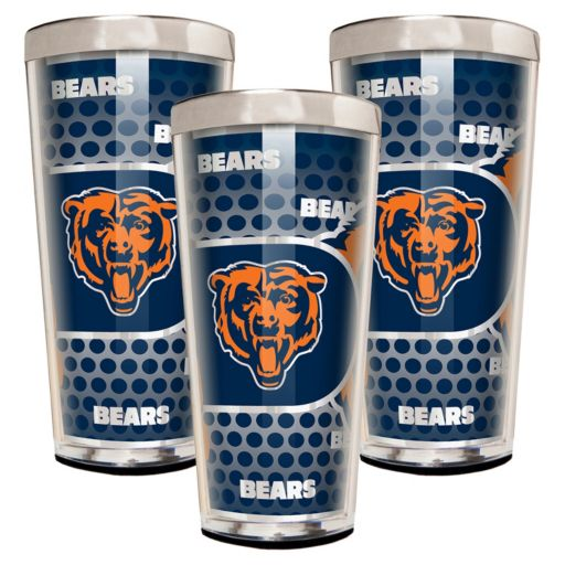Chicago Bears 3-Piece Shot Glass Set