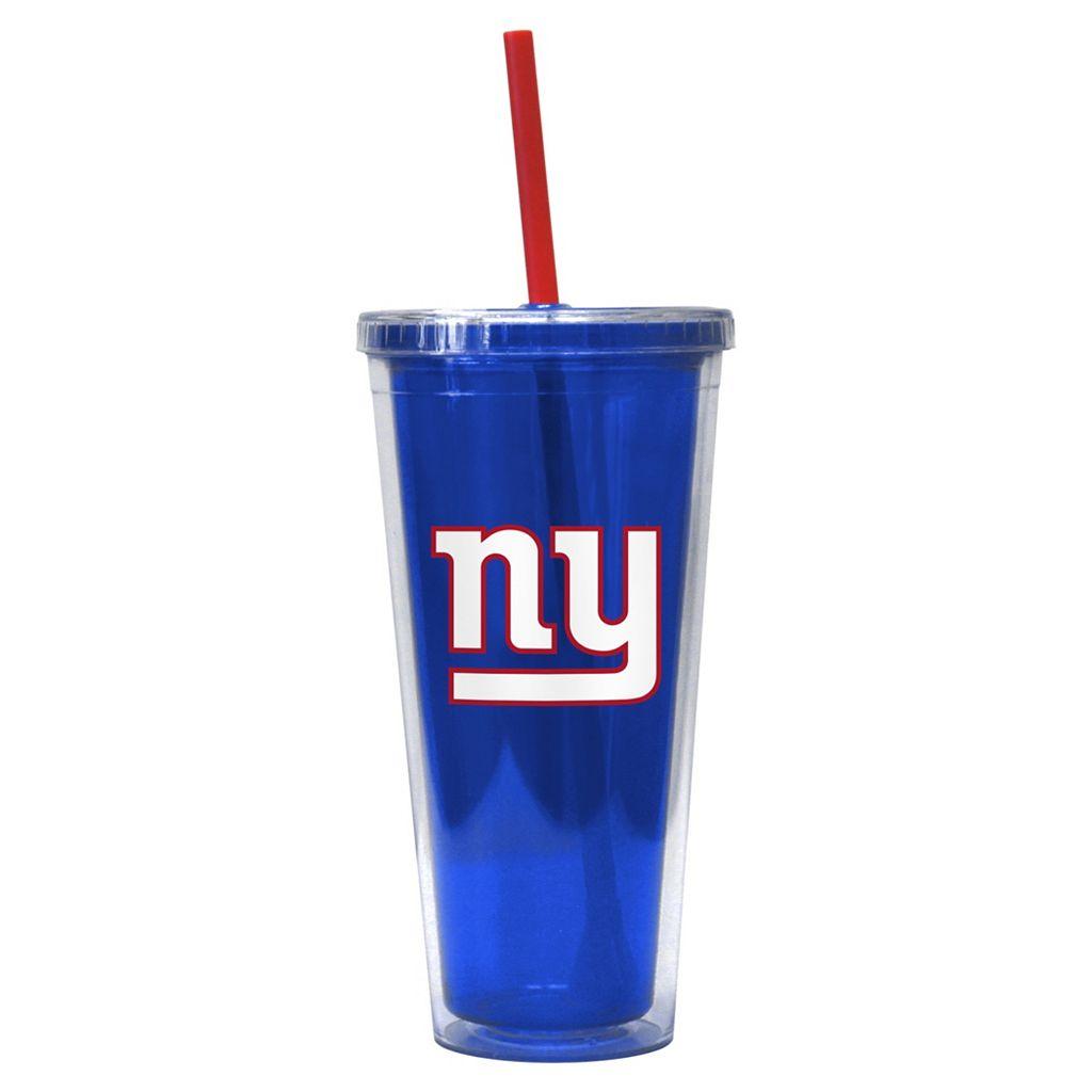 Boelter New York Giants Straw Tumbler
