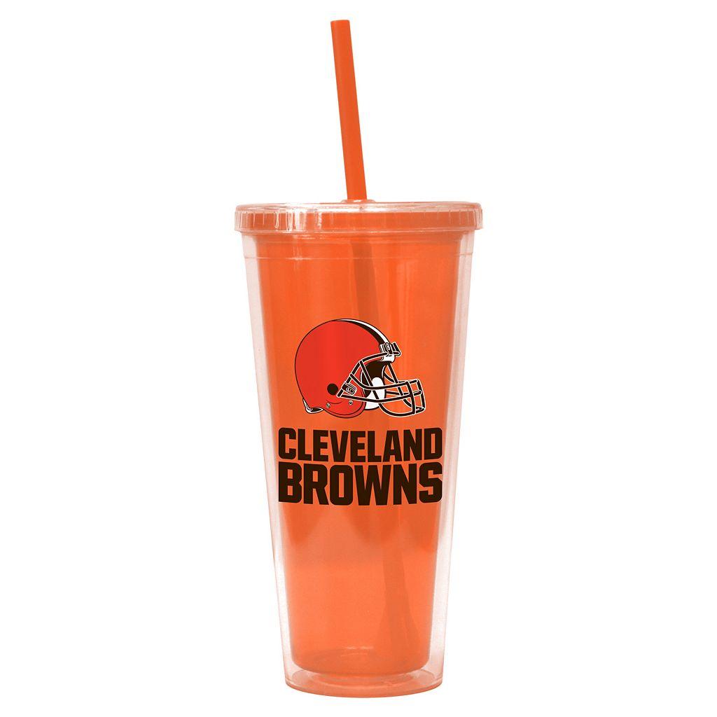 Boelter Brands Cleveland Browns Straw Tumbler