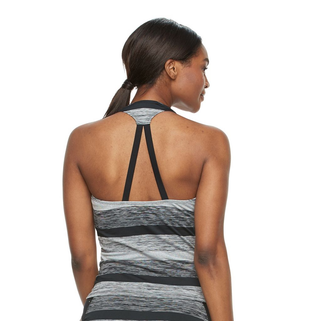Women's RBX Space-Dye Racerback Tankini Top