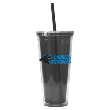 Boelter Brands Carolina Panthers Straw Tumbler