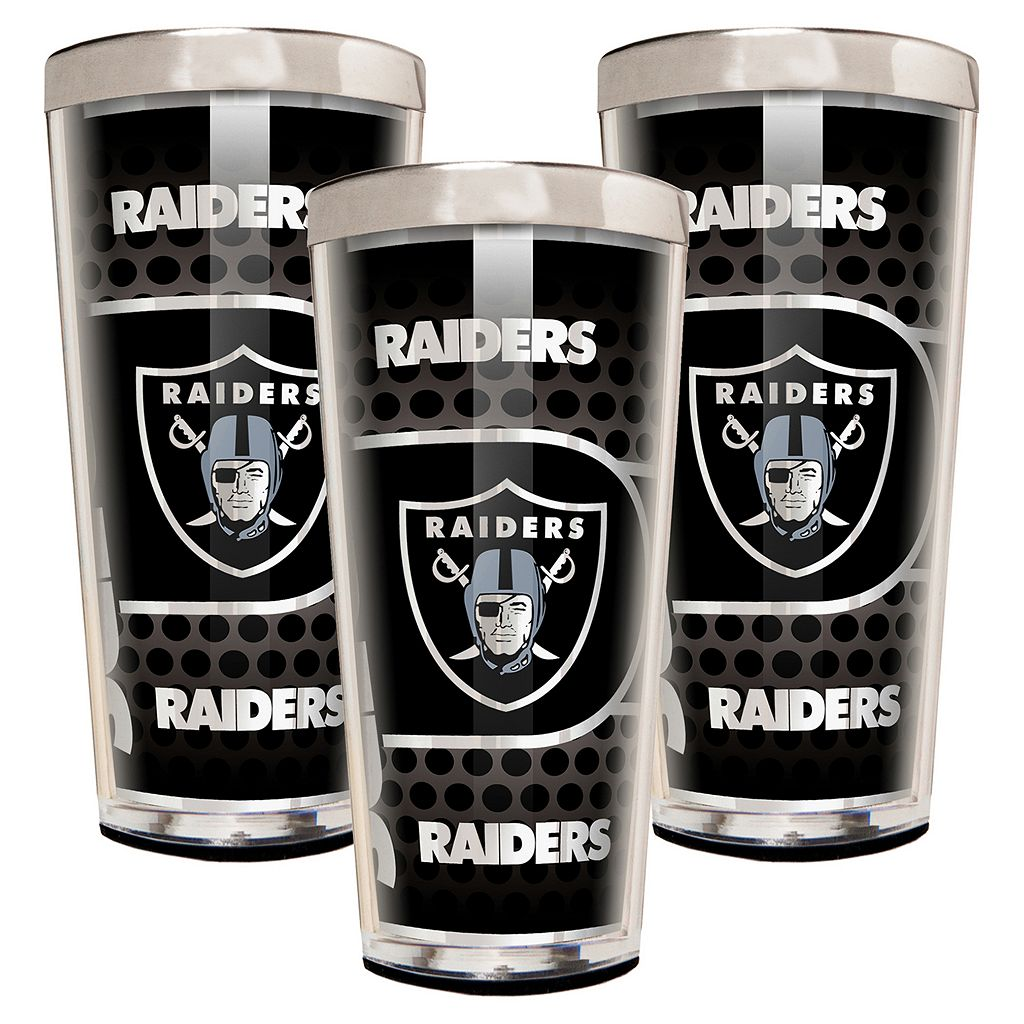 Oakland Raiders 3-Piece Shot Glass Set